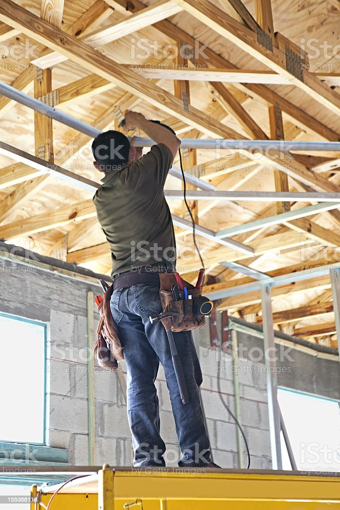 Construction: Framing roof royalty-free stock photo