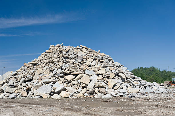 Construction garbage site stock photo