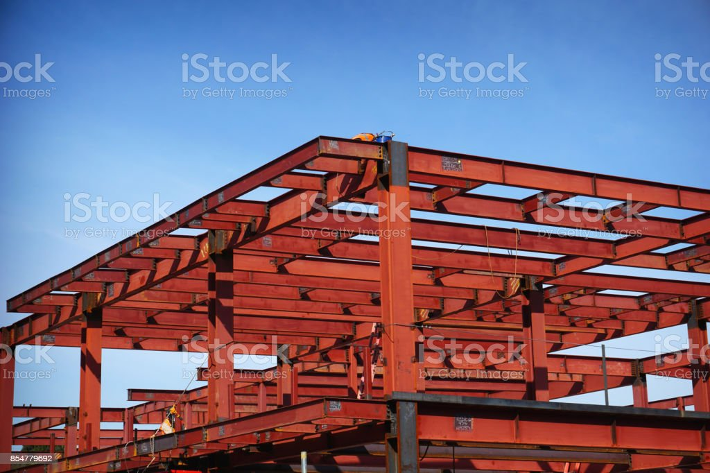 construction girders stock photo
