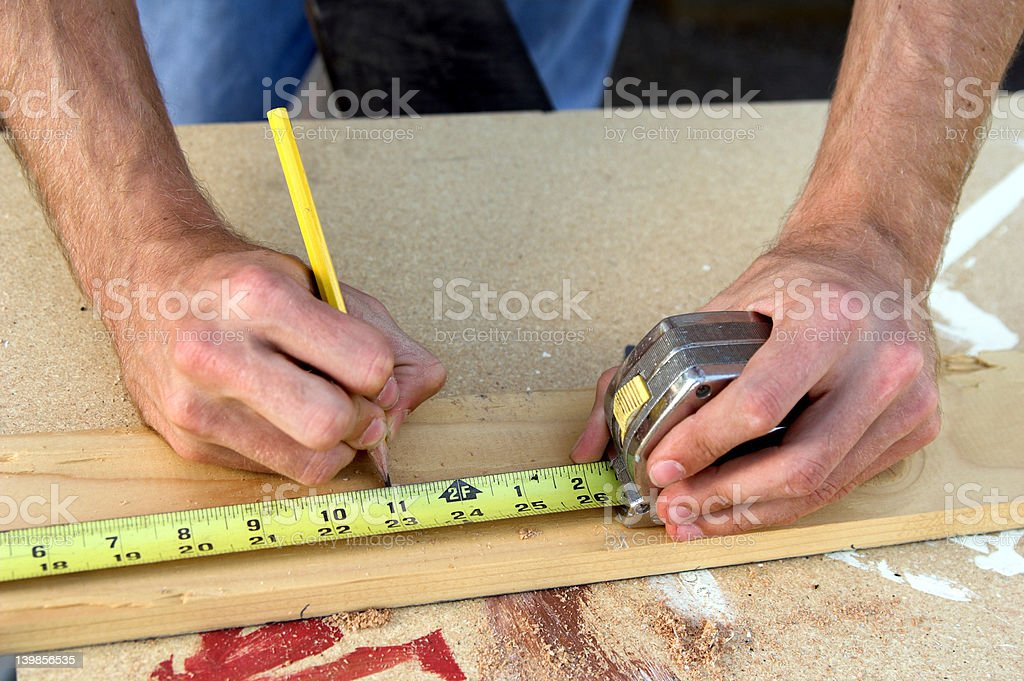 Construction Hands royalty-free stock photo