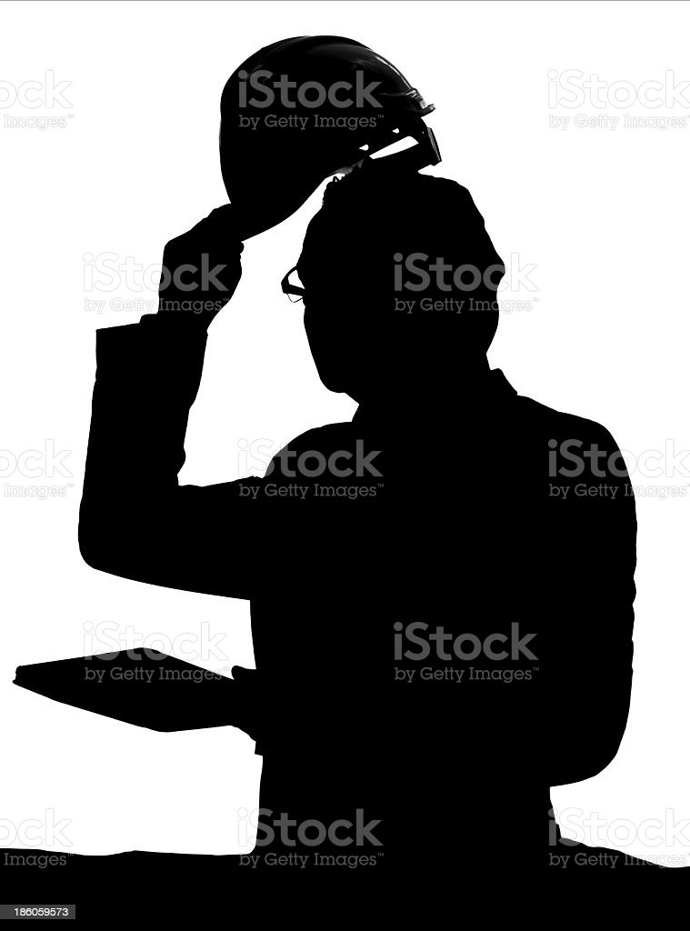 Construction Hard Hat and Engineer royalty-free stock photo