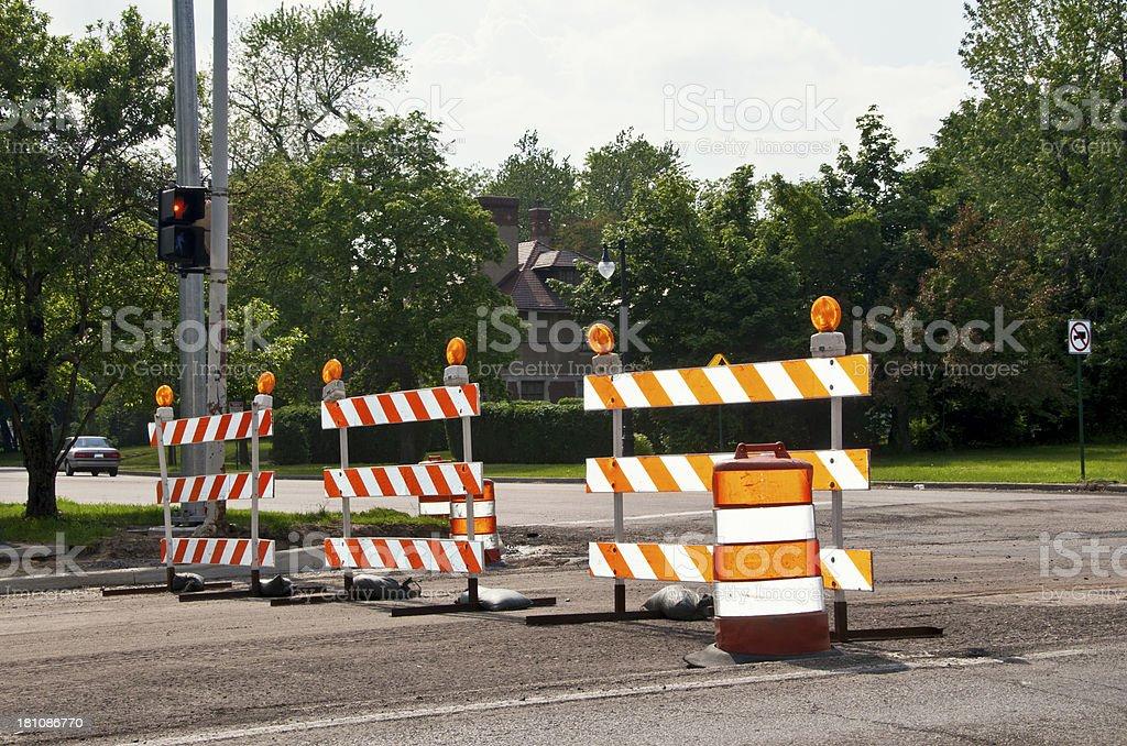 Construction Hazard Sign royalty-free stock photo