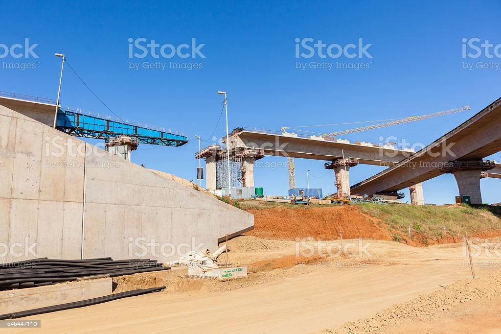 Construction Highway Ramps Junction stock photo