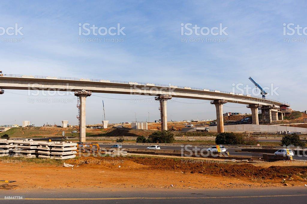 Construction Higway Ramp Flyover Junction stock photo