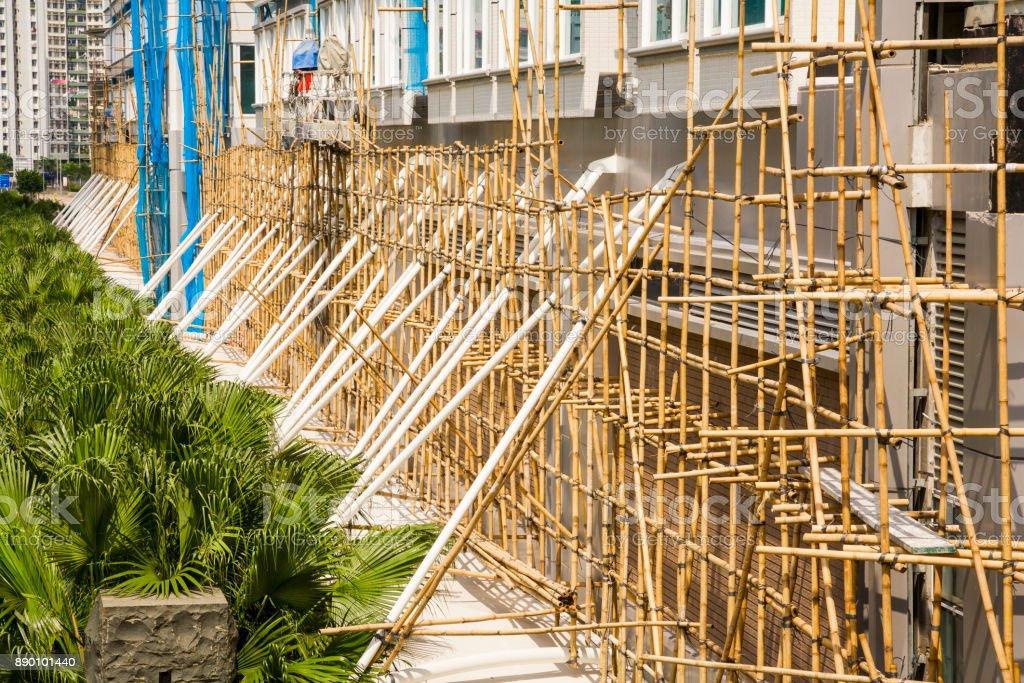 Construction Hong Kong stock photo