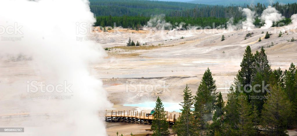 Construction in Norris Geyser Basin - Royalty-free Footpath Stock Photo