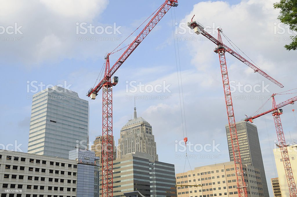 Construction in Oklahoma City stock photo