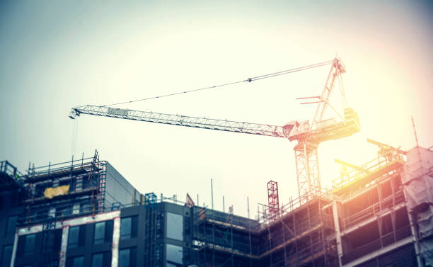 Construction in Progress stock photo