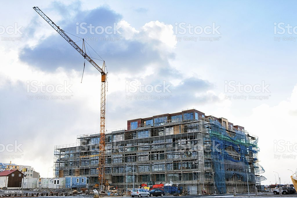 Construction in Reykjavík, Iceland royalty-free stock photo