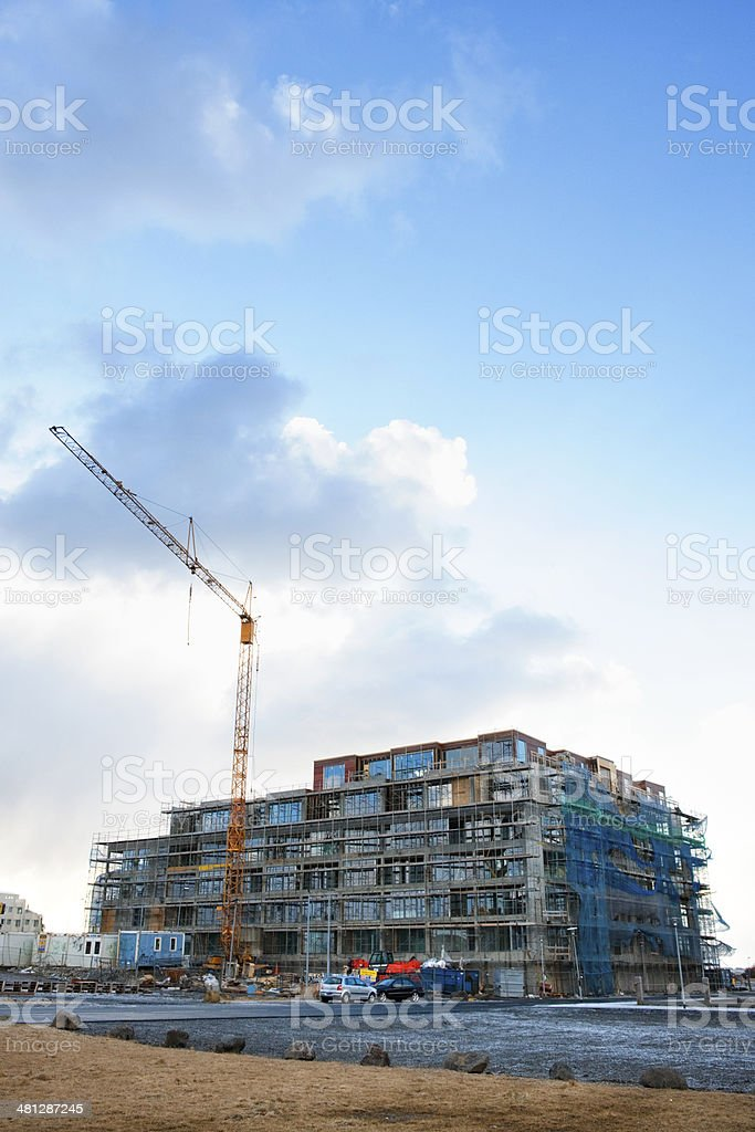 Construction in Reykjavík, Iceland royalty-free stock photo
