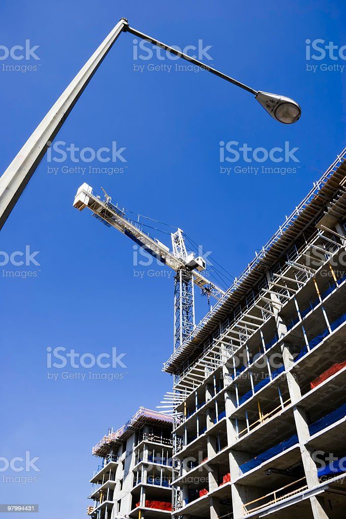 Construction in Washington, D.C. royalty-free stock photo