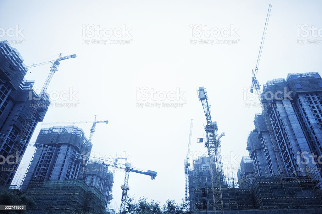 Construction in Xi'an, China royalty-free stock photo