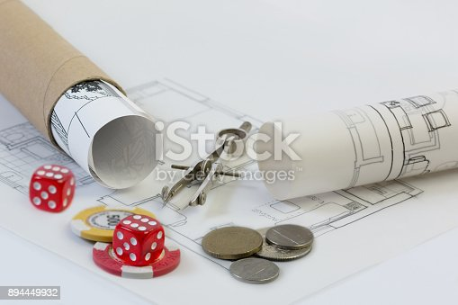 istock Construction industry and Real estate investment risks 894449932