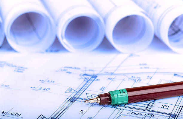construction industry Architecture rolls architectural plans project architect blueprints