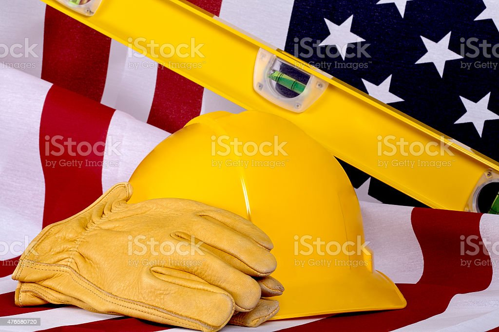 Construction Industry Business USA American Made stock photo
