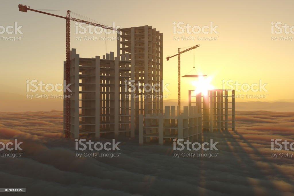 Construction industry illustration stock photo