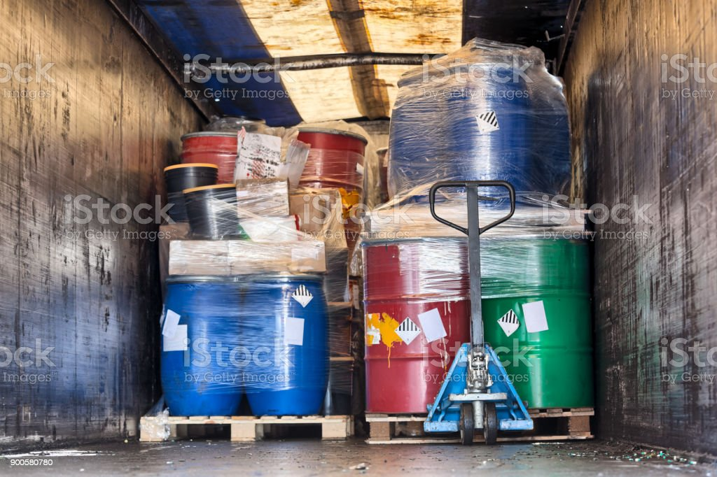 Construction - industry waste transport stock photo