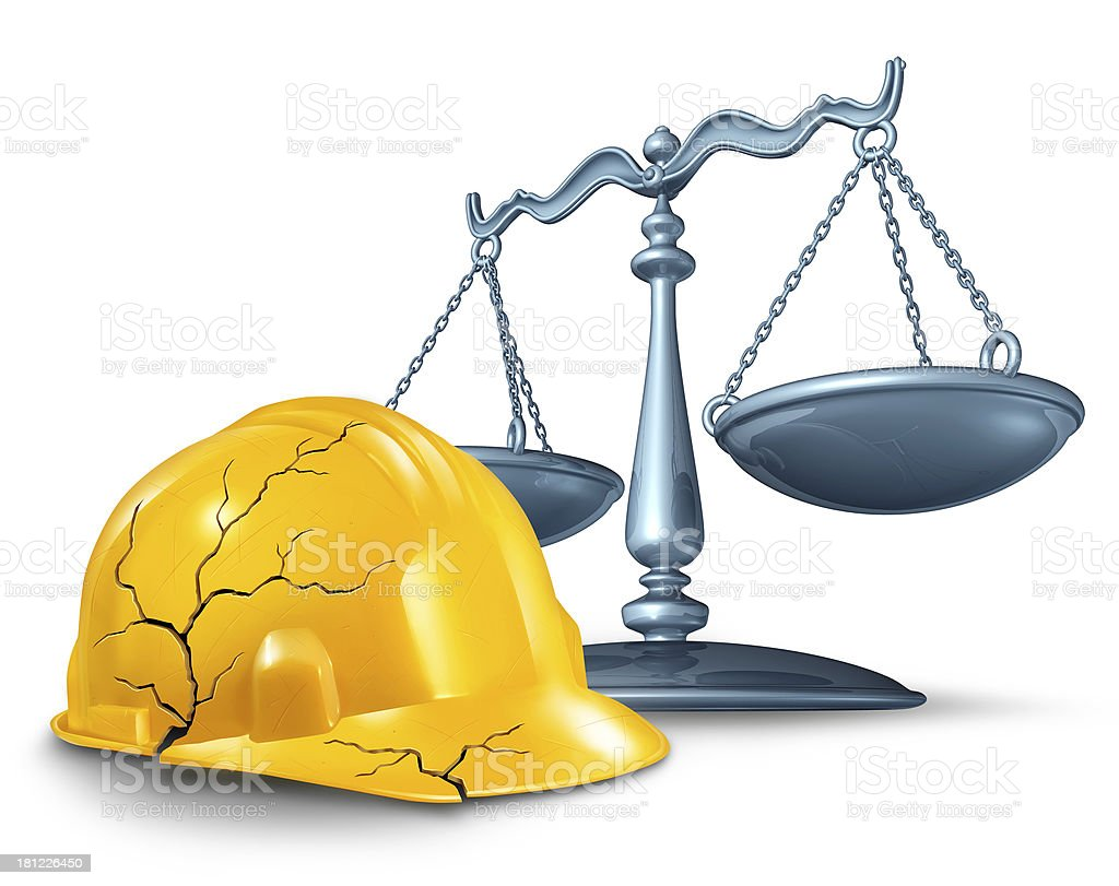 Construction Injury Law royalty-free stock photo