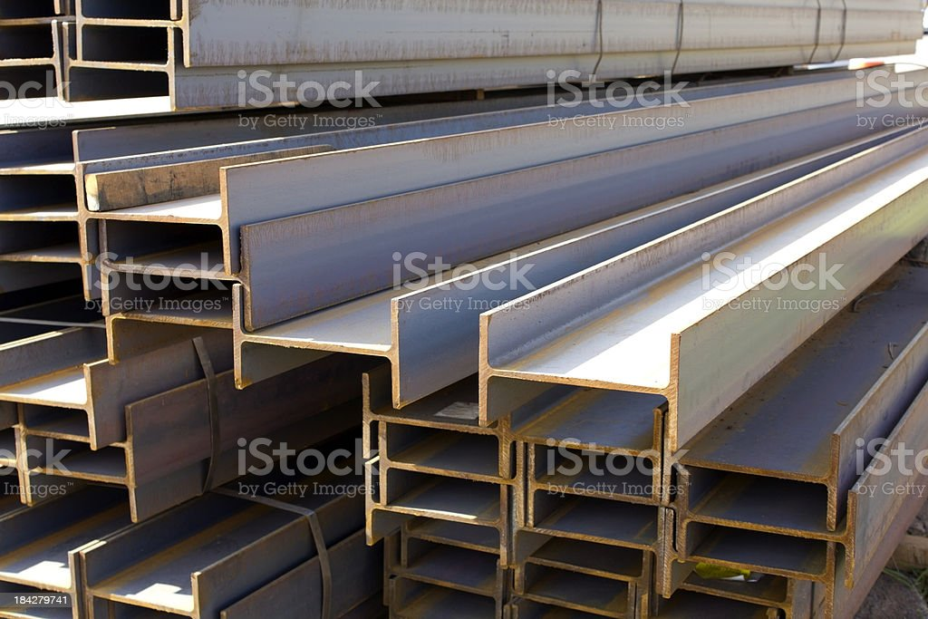 Construction iron bars stock photo