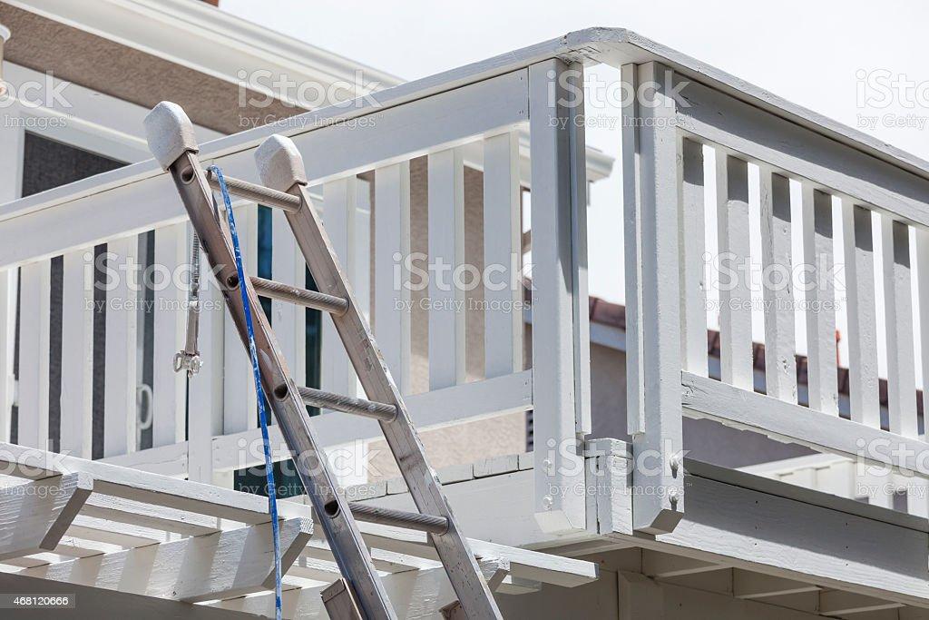 Construcción Ladder Y Pintura Manguera Apoyarsen La Terraza