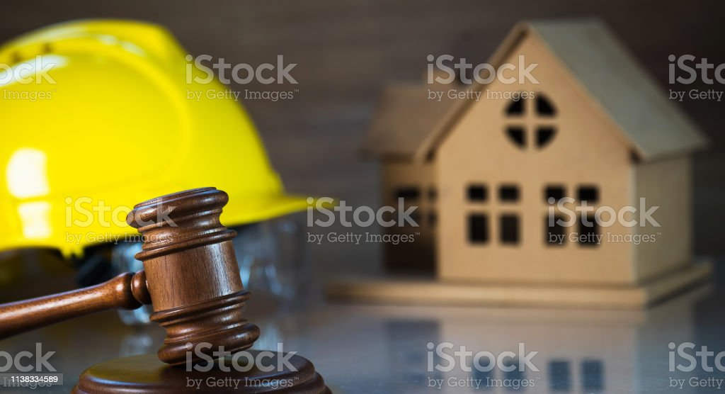 Construction law. concept image stock photo