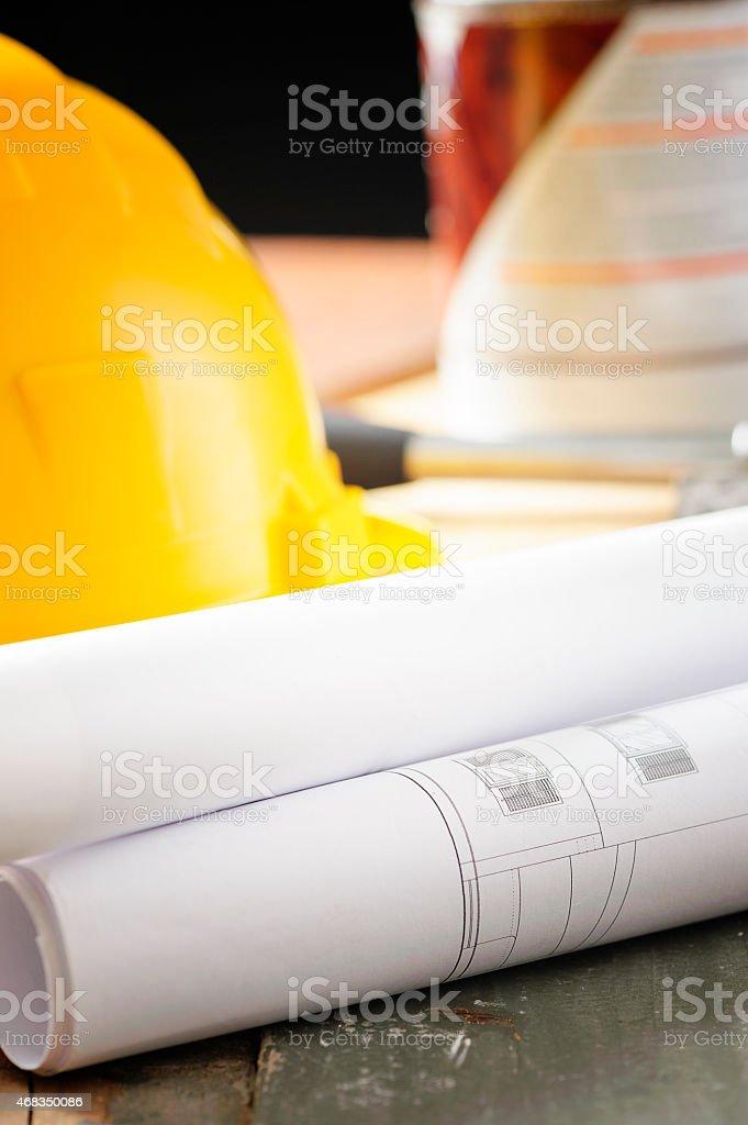 Construction layout royalty-free stock photo