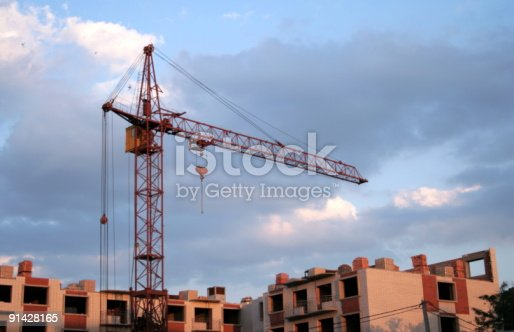 istock Construction. Lifting crane 91428165