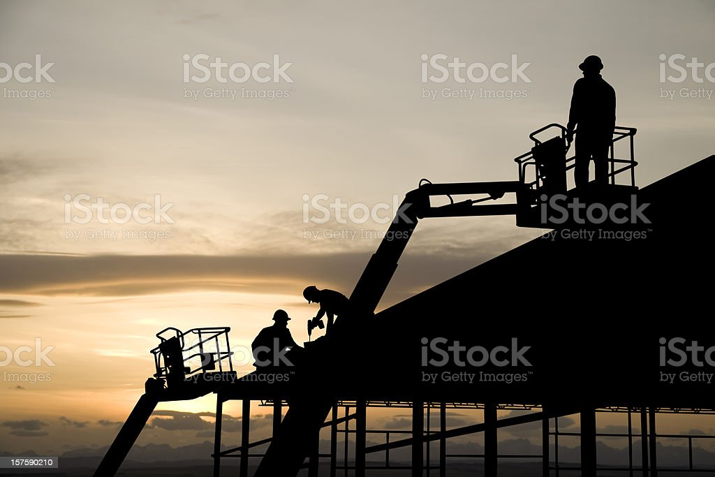 Construction Lifts royalty-free stock photo