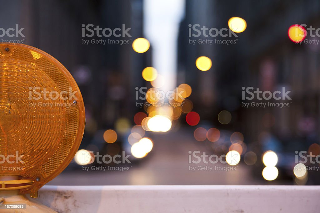 Construction light in Chicago royalty-free stock photo