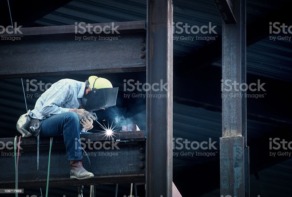 Construction Man Frame Work of High Rise Building stock photo