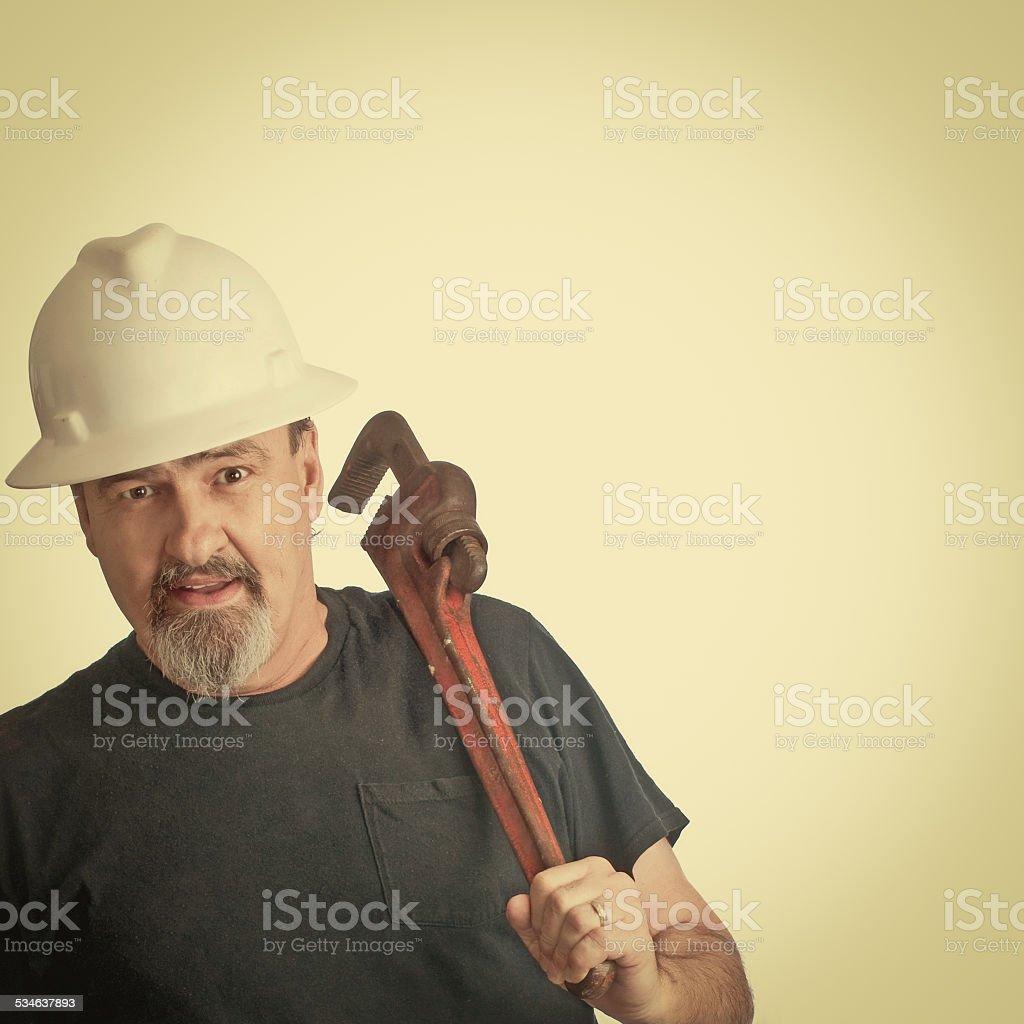 Construction Man Ready To Work stock photo