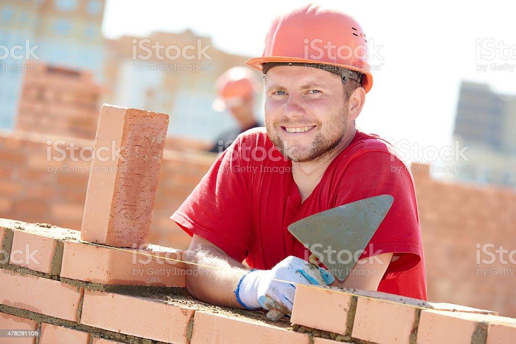 Konstruktion mason Arbeiter Maurer – Foto
