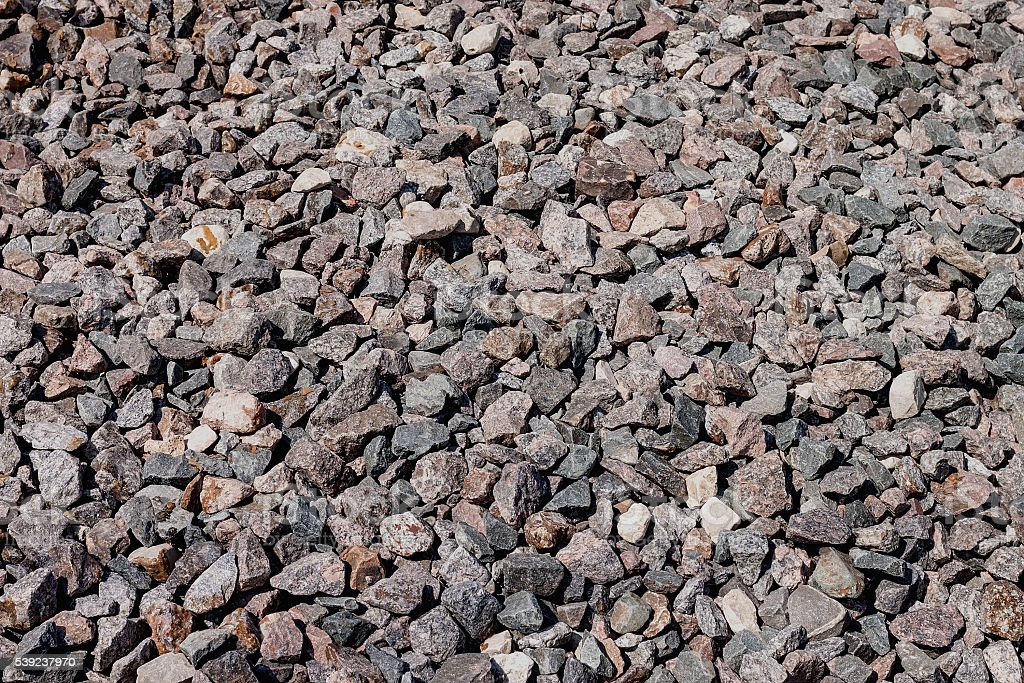 Construction material, crushed stone granite royalty-free stock photo