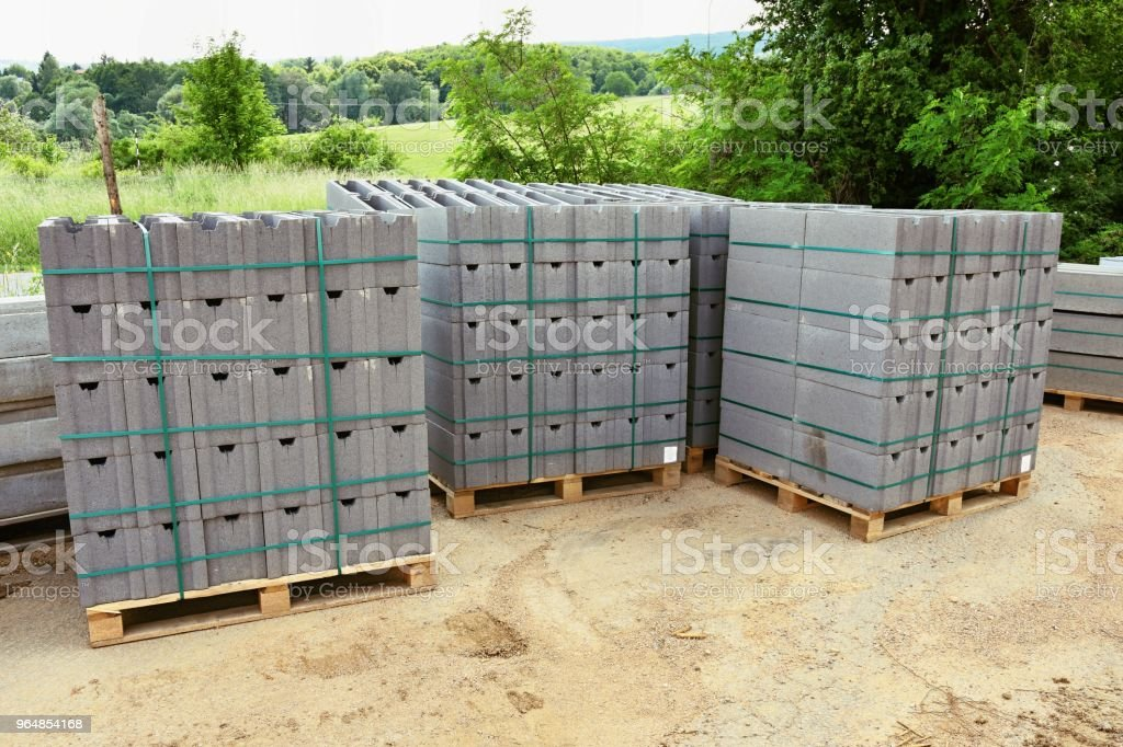 Construction material on site. royalty-free stock photo