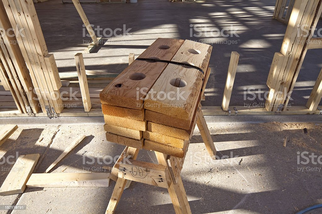 Construction Materials on a New Build stock photo