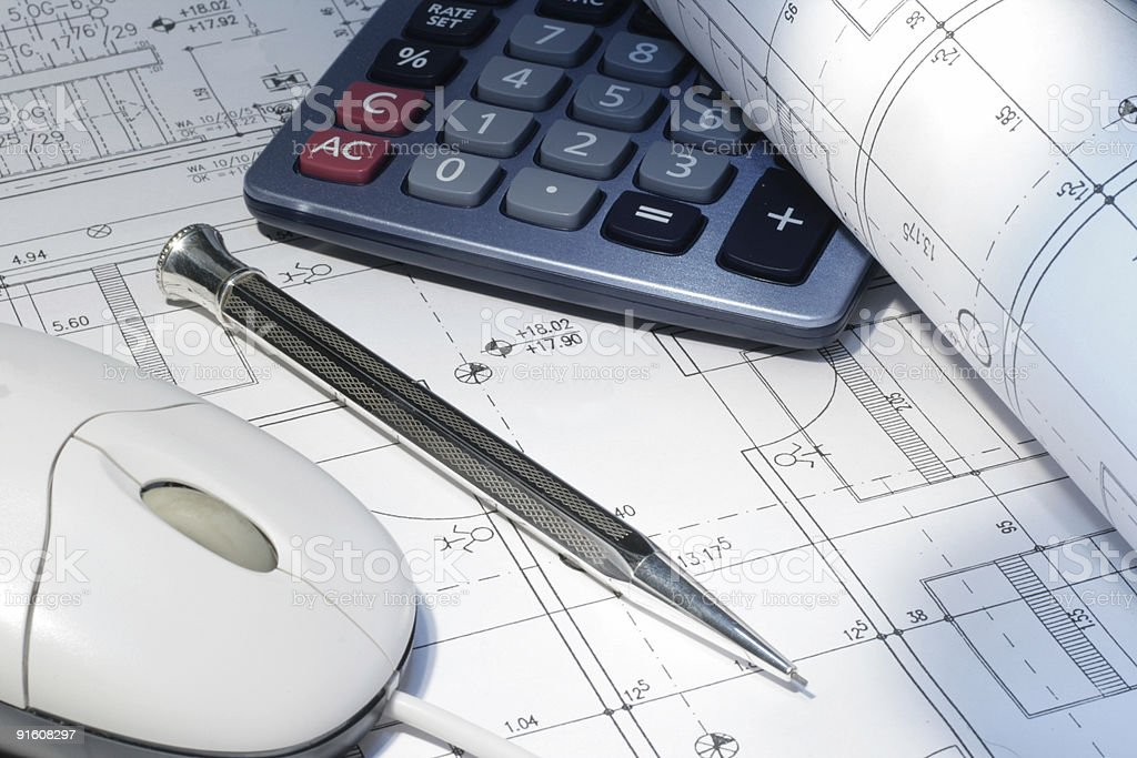 construction meeting, taken in a architect office royalty-free stock photo