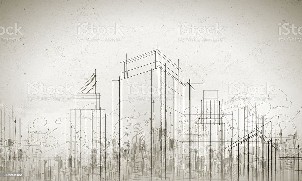 Construction model stock photo
