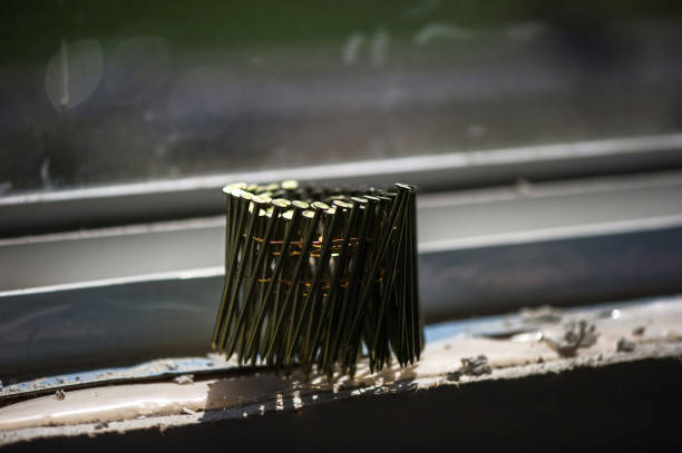 Konstruktion Nagelspule aus nächster Nähe – Foto