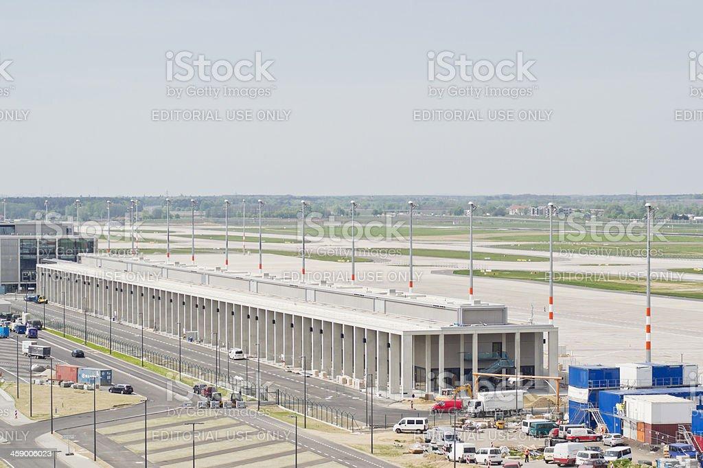 Construction new airport Berlin BER stock photo