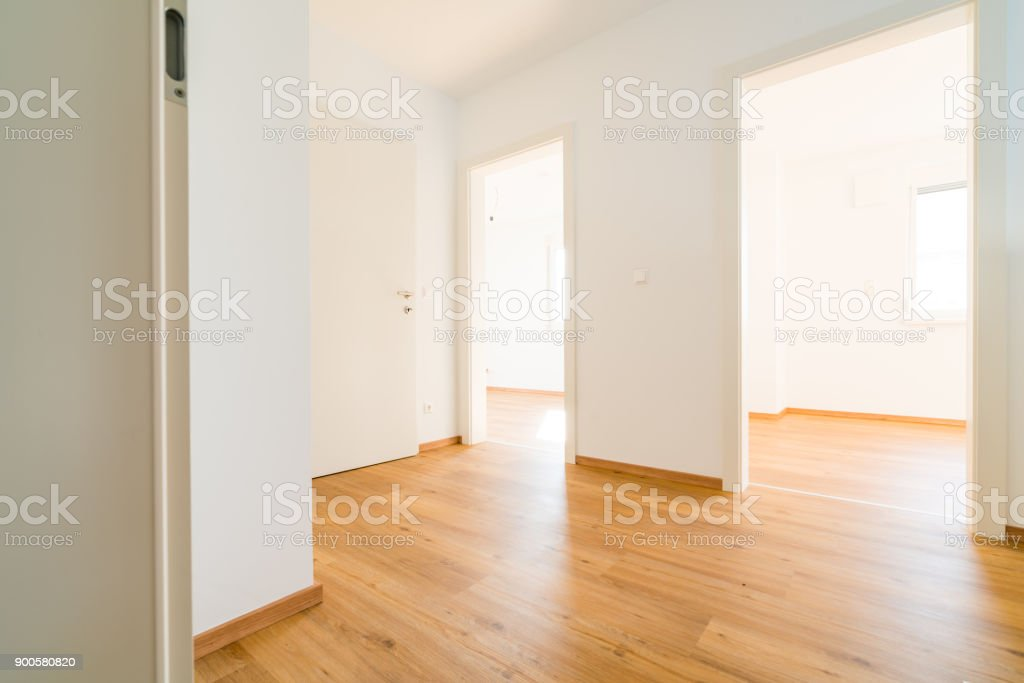 Bau - neues Haus leer Interieur - Lizenzfrei Anfang Stock-Foto