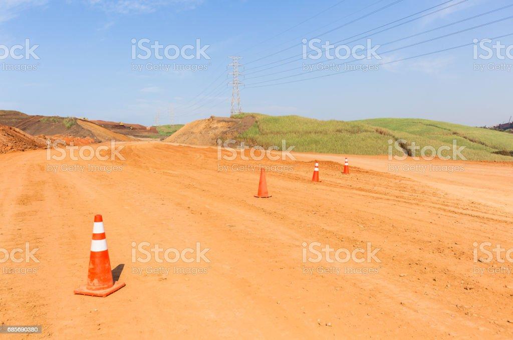 Construction New Road Earthworks Landscape foto de stock royalty-free