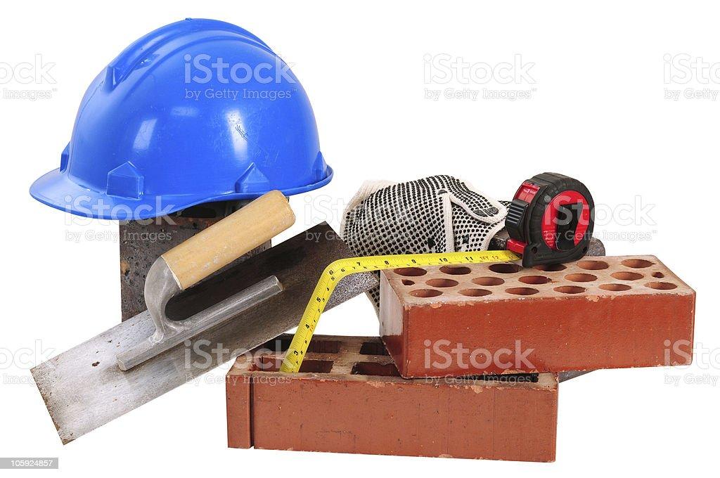 Construction objects. royalty-free stock photo