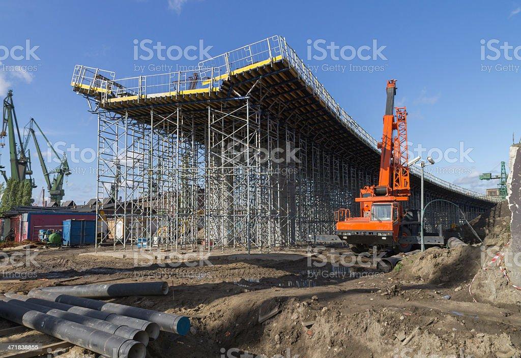 Construction of a bridge royalty-free stock photo