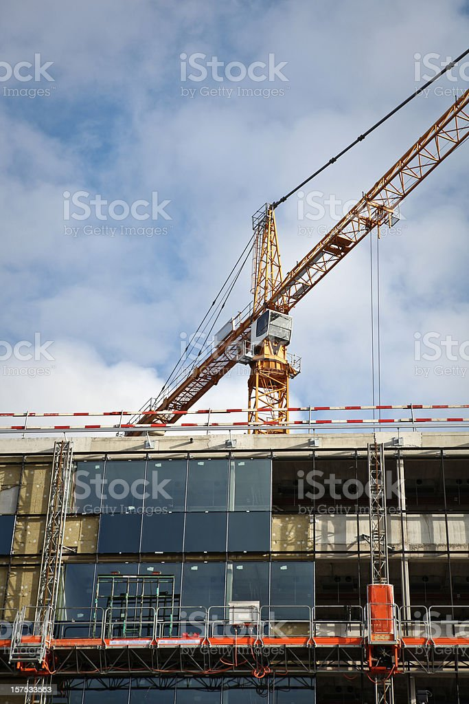 Construction of a corporate building royalty-free stock photo
