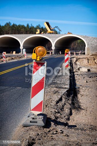 Construction of a culvert for animals over the new highway S3 near Szczecin, Poland