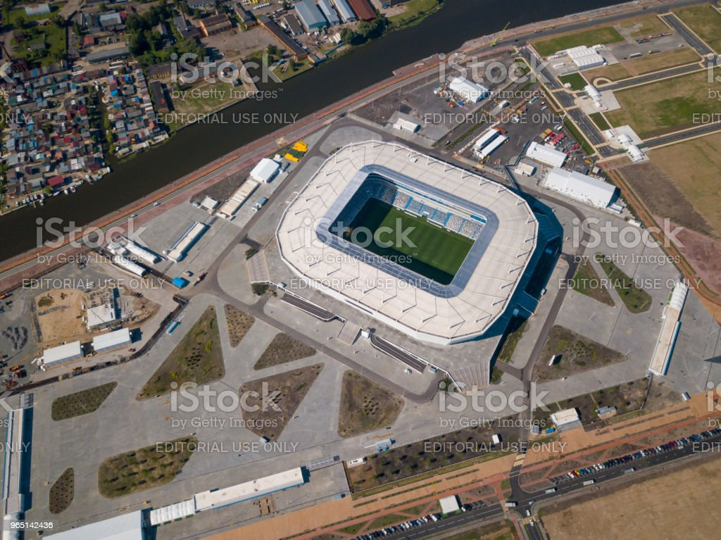 Construction of a football stadium for Fifa World Cup 2018 is completed zbiór zdjęć royalty-free