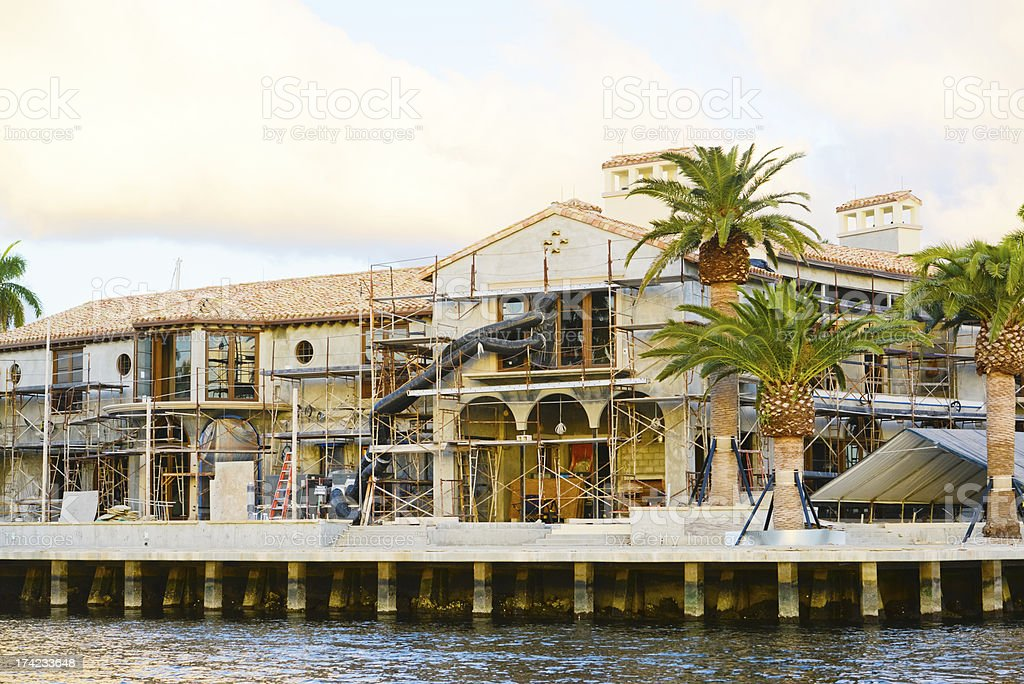 Construction of a Luxury House royalty-free stock photo