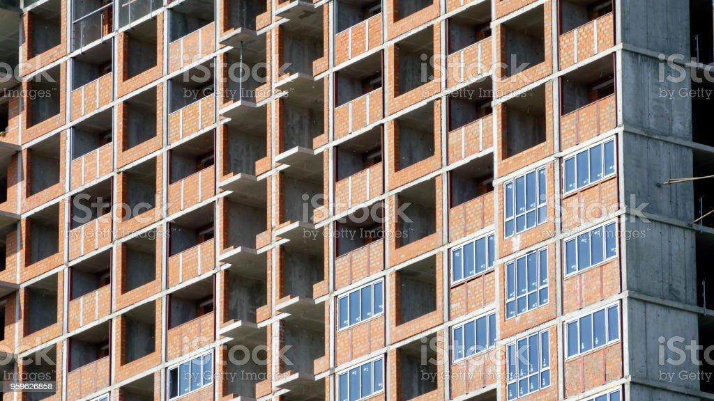 Construcción de un edificio moderno - Foto de stock de Abstracto libre de derechos