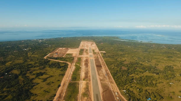 Construction of a new airport terminal.Philippines, Bohol, Panglao stock photo