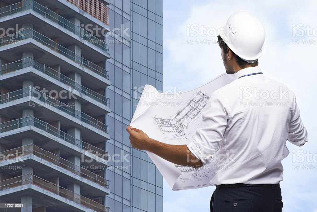 Construction of a new building royalty-free stock photo